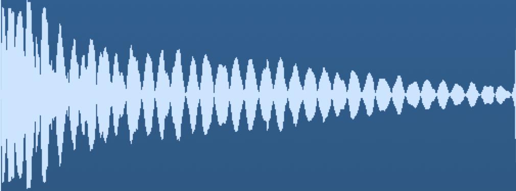 Waveform of a kick drum